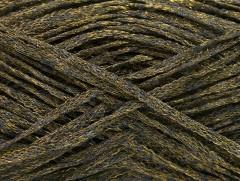 Viskóza ribbon šajn - tmavě zelenázlatá