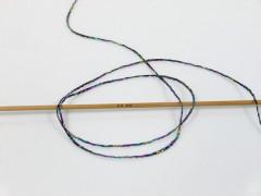 Viskóza Stella - černofuchsiovotyrkysovozlatá