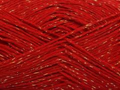 Viskóza Stella - červenozlatá