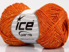 Viskóza Stella - oranžovozlatá