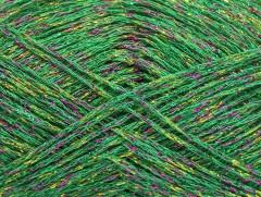 Viskóza Stella - zelenofuchsiovozlatá