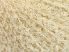 Vlna bavlna buklé - přírodní