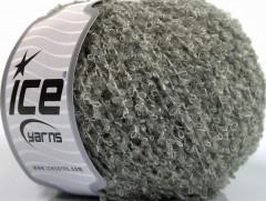 Vlna bavlna buklé - šedá