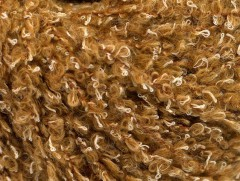 Vlna bavlna buklé - světle hnědá