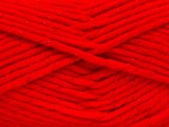 Vlna bulky glitz - červená