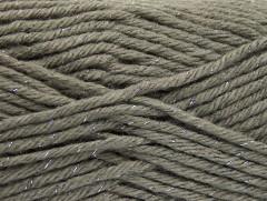Vlna bulky glitz - šedostříbrná