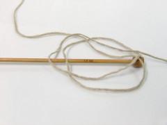 Vlna cord aran - béžová