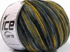 Vlna cord aran - černošedoolivovozelená