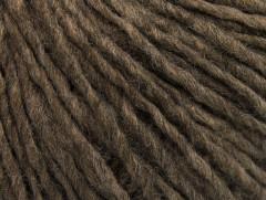 Vlna cord aran - hnědá melánž 1