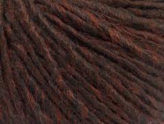 Vlna cord aran - hnědá melánž