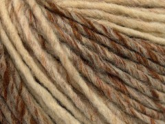 Vlna cord aran - hnědokrémová