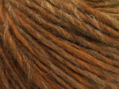 Vlna cord aran - hnědoolivovězelená