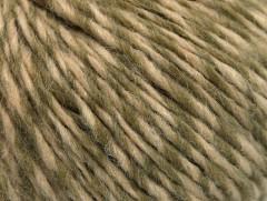 Vlna cord aran - khakikrémová