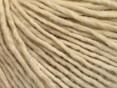 Vlna cord aran - krémová 2