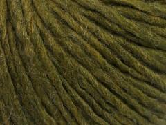 Vlna cord aran - lesní zelená
