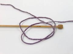 Vlna cord aran - levandulová