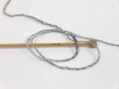 Vlna cord aran - měděnozlatošedá