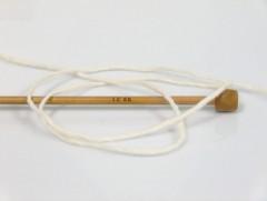 Vlna cord aran - přírodní 1
