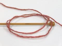 Vlna cord aran - růžovédřevofialová