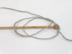Vlna cord aran - šedobéžovovelbloudí
