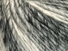 Vlna cord aran - šedobílá