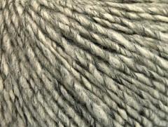 Vlna cord aran - šedokrémová