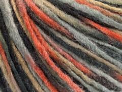 Vlna cord aran - šedoměděnovelbloudí