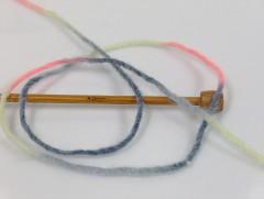Vlna cord aran - šedoneonověrůžová