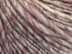 Vlna cord aran - šedopurpurovokrémovoměděná