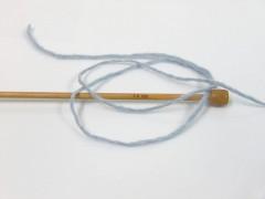 Vlna cord aran - světle modrá