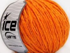 Vlna cord aran - světle oranžová