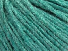 Vlna cord aran - světle smaragdově zelená