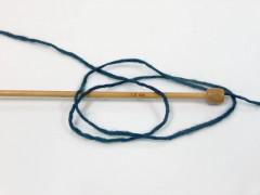 Vlna cord aran - tmavá modrozelená