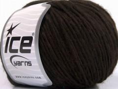 Vlna cord aran - tmavě hnědá 1