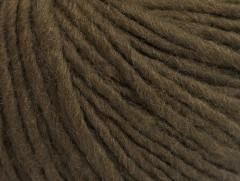 Vlna cord aran - tmavě hnědá