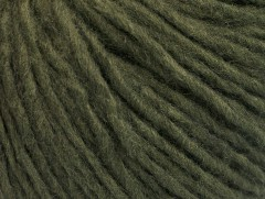 Vlna cord aran - tmavě zelená