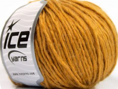 Vlna cord aran - zlatá 1