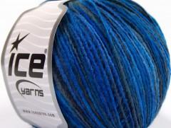 Vlna Cord light - modré odstíny