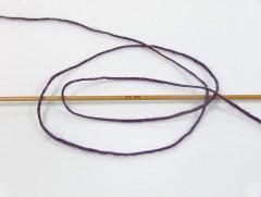 Vlna Cord light - purpurová