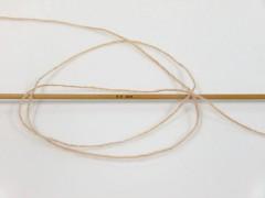 Vlna cord sport - bílá káva 3