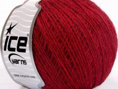 Vlna cord sport - červená  melánž