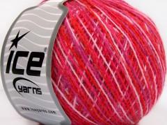 Vlna cord sport - fialovočervenofuchsiovobílá