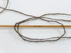 Vlna cord sport - tmavě hnědá 1