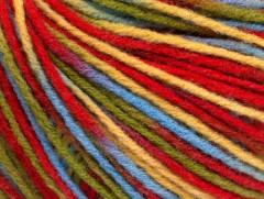 Vlna DK color - červenožlutozelenomodrá