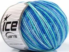 Vlna DK color - modrotyrkysová