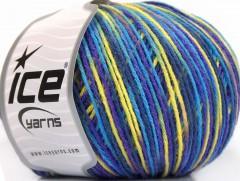 Vlna DK color - purpurovonámořnickátyrkysovožlutá