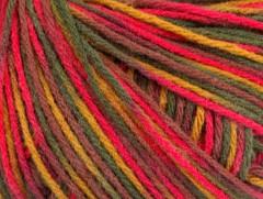 Vlna DK color - růžovokaštanovozelenoé odstíny
