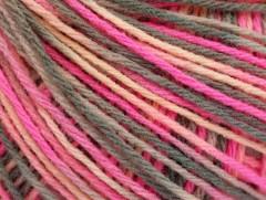 Vlna DK color - růžovošedá