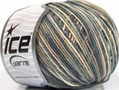 Vlna DK color - šedokrémová