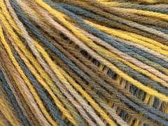 Vlna DK color - šedovelbloudíbéžovožlutá